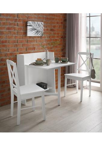 Home affaire Klapptisch »Dinant«, im Landhaus-Stil gehalten, platzsparend, einklappbar, Breite 84 cm kaufen