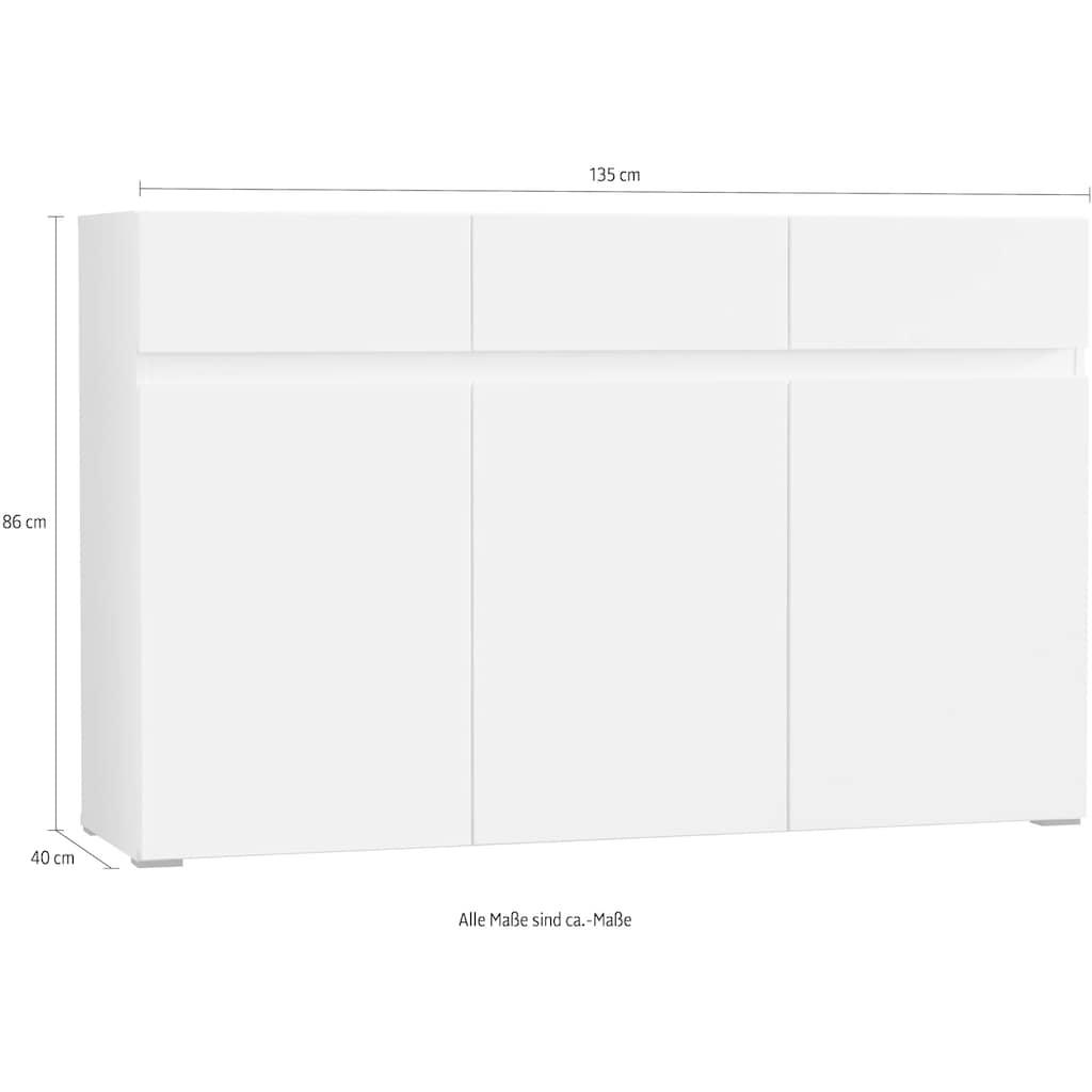 my home Sideboard, Breite 135 cm