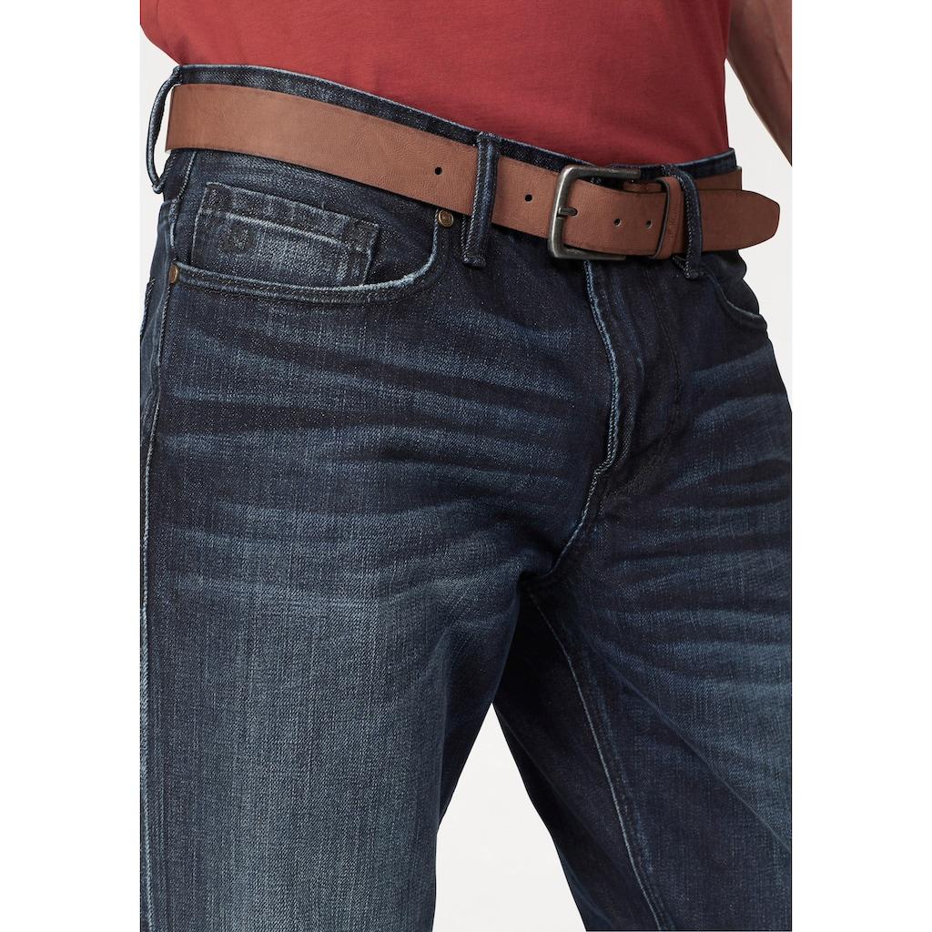 s.Oliver Slim-fit-Jeans, (Set, mit Gürtel)