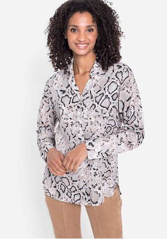 Olsen Klassische Bluse, mit Schlangenprint kaufen