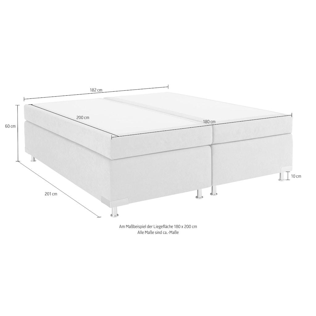 Westfalia Schlafkomfort Boxspringbett »Holland«, ohne Kopfteil, frei im Raum stellbar