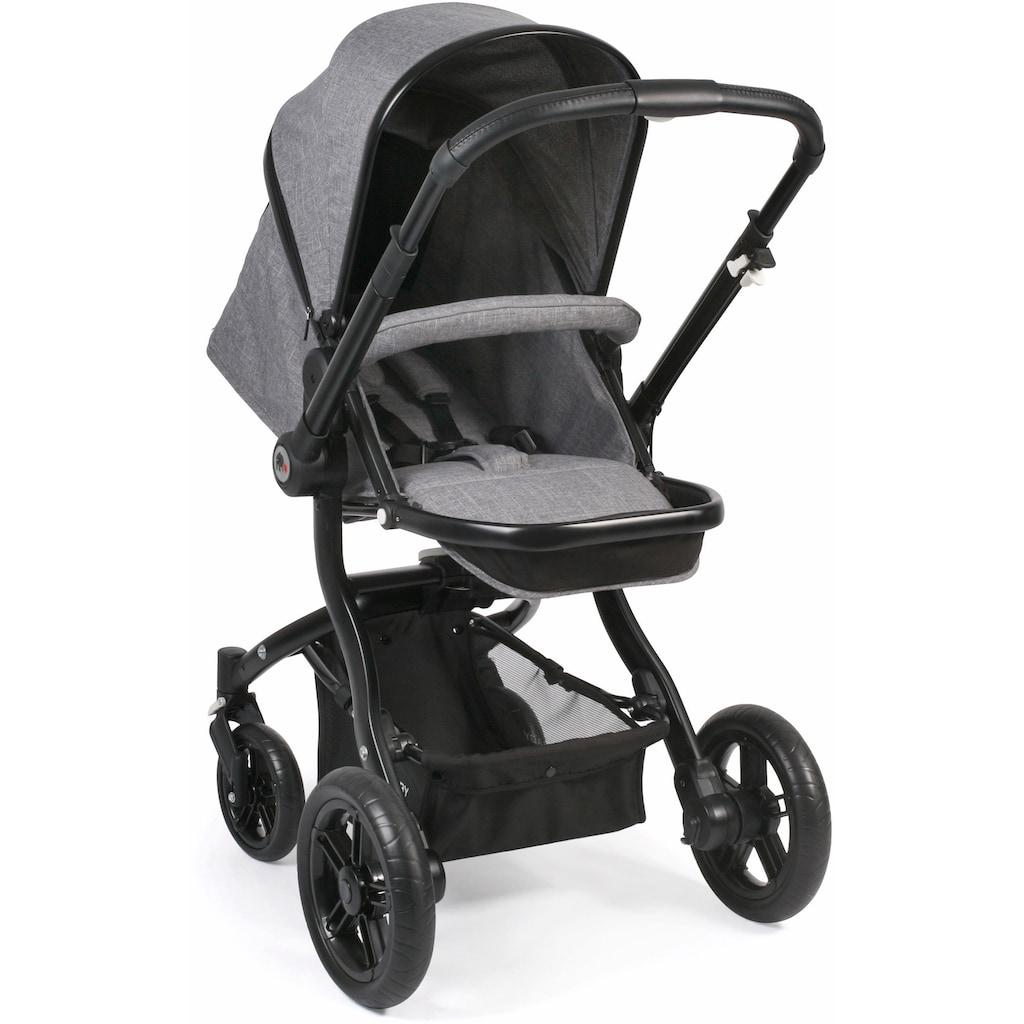 CHIC4BABY Kombi-Kinderwagen »Tano, grau«, 15 kg