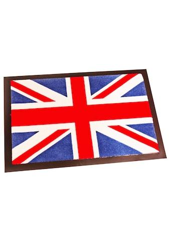 HANSE Home Fußmatte »Union Jack«, rechteckig, 8 mm Höhe, Fussabstreifer, Fussabtreter, Schmutzfangläufer, Schmutzfangmatte, Schmutzfangteppich, Schmutzmatte, Türmatte, Türvorleger, waschbar kaufen