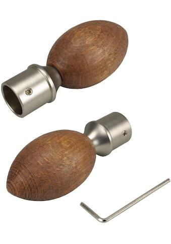 Liedeco Gardinenstangen-Endstück »Egg«, für Gardinenstangen Ø 16 mm kaufen