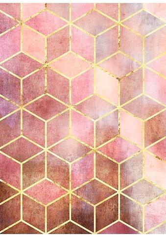 Komar Poster »Mosaik Rosso«, Formen-Kunst, Höhe: 40cm kaufen