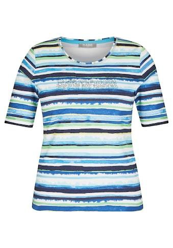 Rabe T-Shirt, mit gestreiftem Muster und Strass-Steinen kaufen
