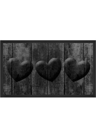 HANSE Home Fußmatte »3 Hearts«, rechteckig, 5 mm Höhe, Fussabstreifer, Fussabtreter,... kaufen