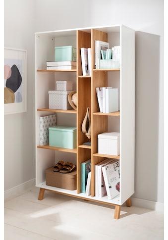 Home affaire Bücherregal »Saillon«, aus massivem Kiefernholz, mit vielen Stauraummöglichkeiten, Breite 100 cm kaufen