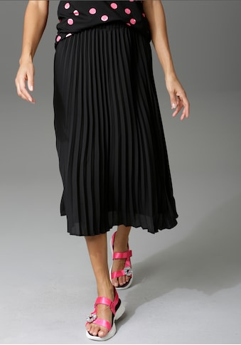 Aniston CASUAL Plisseerock, in trendiger Farbpalette - NEUE KOLLEKTION kaufen
