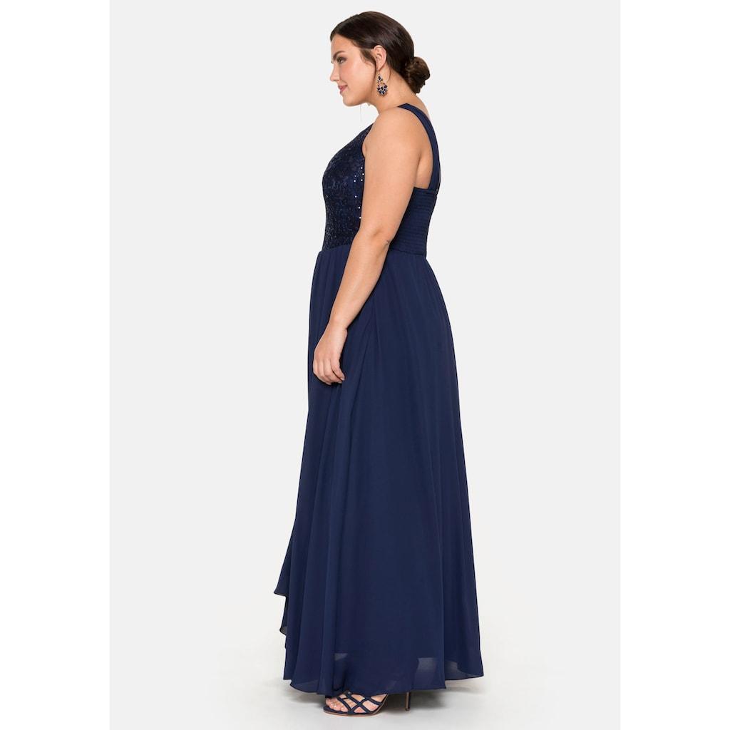 Sheego Abendkleid, mit Paillettendekoration