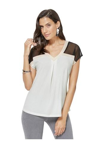 Inspirationen Shirt mit luftigen Mesh - Einsätze kaufen