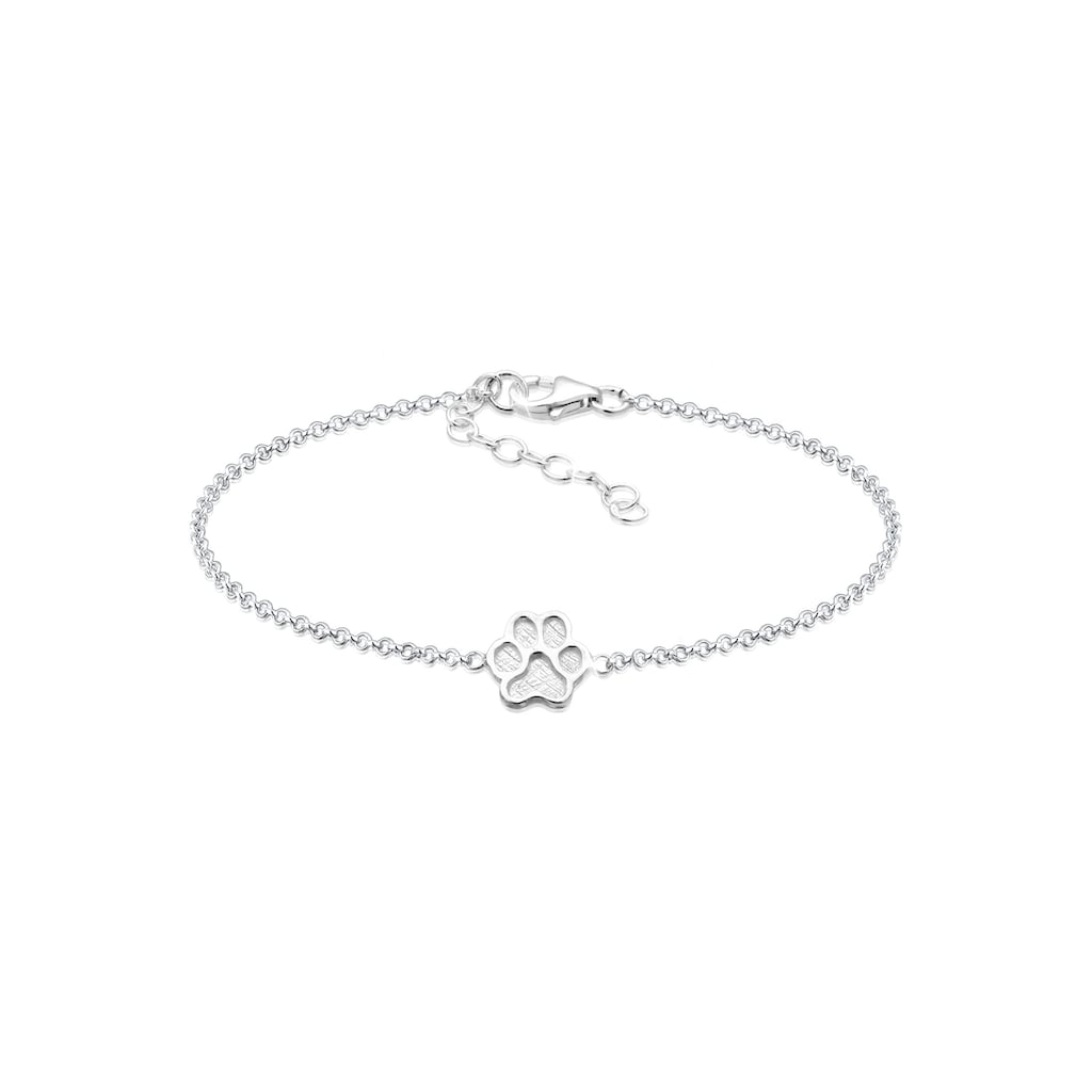 Elli Armband »Pfote Symbol Hund Katze Tierfreund 925er Silber«