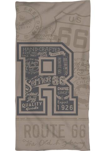 """Route 66 Strandtuch »USA Road«, (1 St.), mit großem """"R"""" kaufen"""