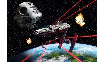 Komar Fototapete »Star Wars Millennium Falcon«, bedruckt-Comic, ausgezeichnet... kaufen