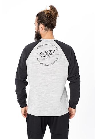 SUPER.NATURAL Sweatshirt »M SIGNATURE CONTRAST CREW«, bequemer Merino-Materialmix kaufen