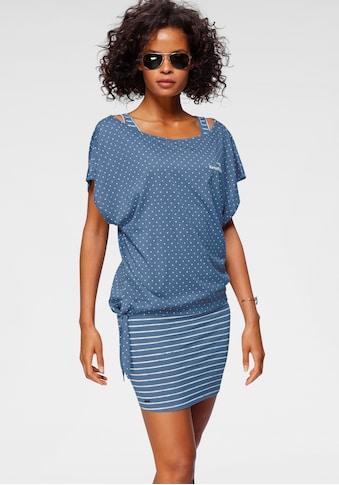 KangaROOS Jerseykleid, (2 tlg.), im Set mit oversize Shirt zum Knoten kaufen