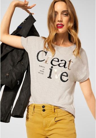 STREET ONE T-Shirt, mit Wording-Print kaufen