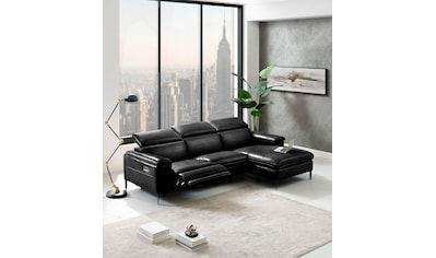 Places of Style Ecksofa »Sacramento«, mit elektrischer Relaxfunktion auf einer Seite... kaufen