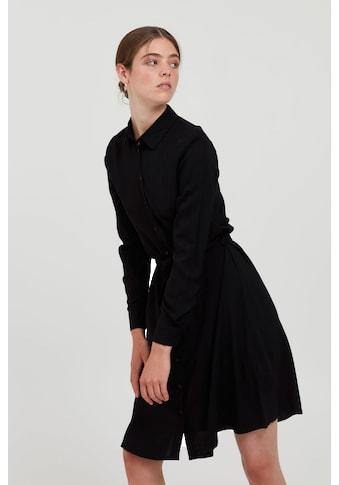 Ichi Blusenkleid »IHMAIN DR 20114548«, Hemdblusenkleid mit Knopfleiste und Bindegürtel kaufen