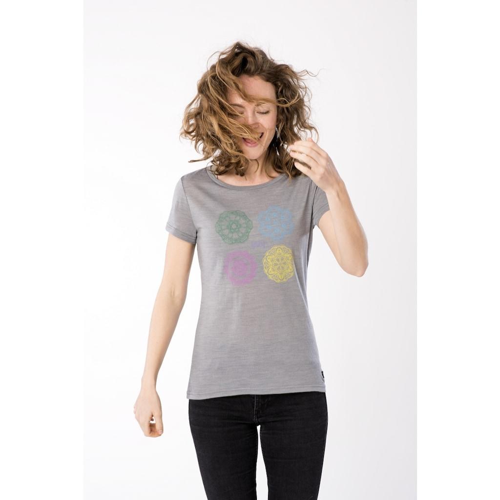 SUPER.NATURAL T-Shirt »W PRINTED TEE«, toller Merino-Materialmix