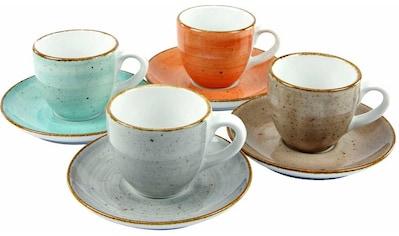 CreaTable Espressotasse »VINTAGE NATURE«, (Set, 4 tlg.), Porzellan kaufen