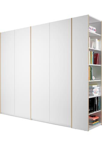 Müller SMALL LIVING Kleiderschrank »Modular Plus Variante 4«, innen jeweils mit durchgehendem Boden, Anbauregal wahlweise links oder rechts montierbar kaufen
