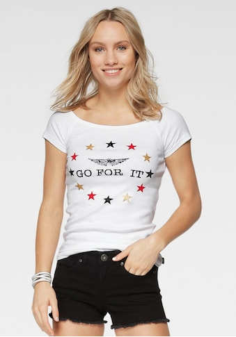 Arizona Carmenshirt »Fanshirt: GO FOR IT«, variabel tragbar kaufen