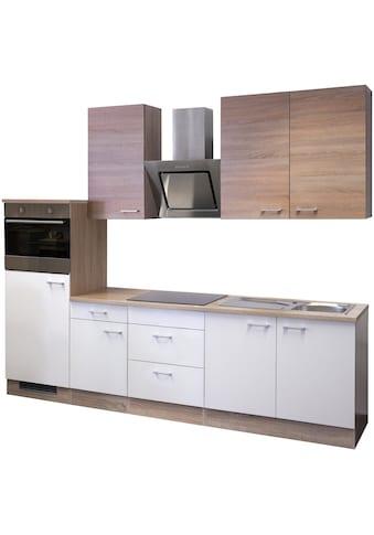 Flex-Well Küchenzeile, mit E-Geräten, Gesamtbreite 270 cm kaufen