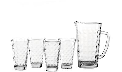 LEONARDO Gläser-Set »Optic«, (Set, 5 tlg., 1 Krug, 4 Becher), 1 Krug, 4 Becher kaufen