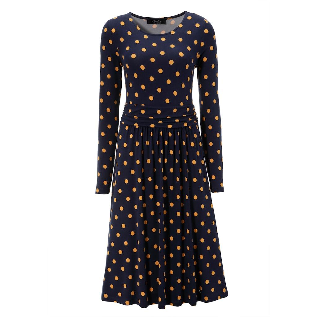 Aniston SELECTED Jerseykleid, im zeitlosen Punkte-Design
