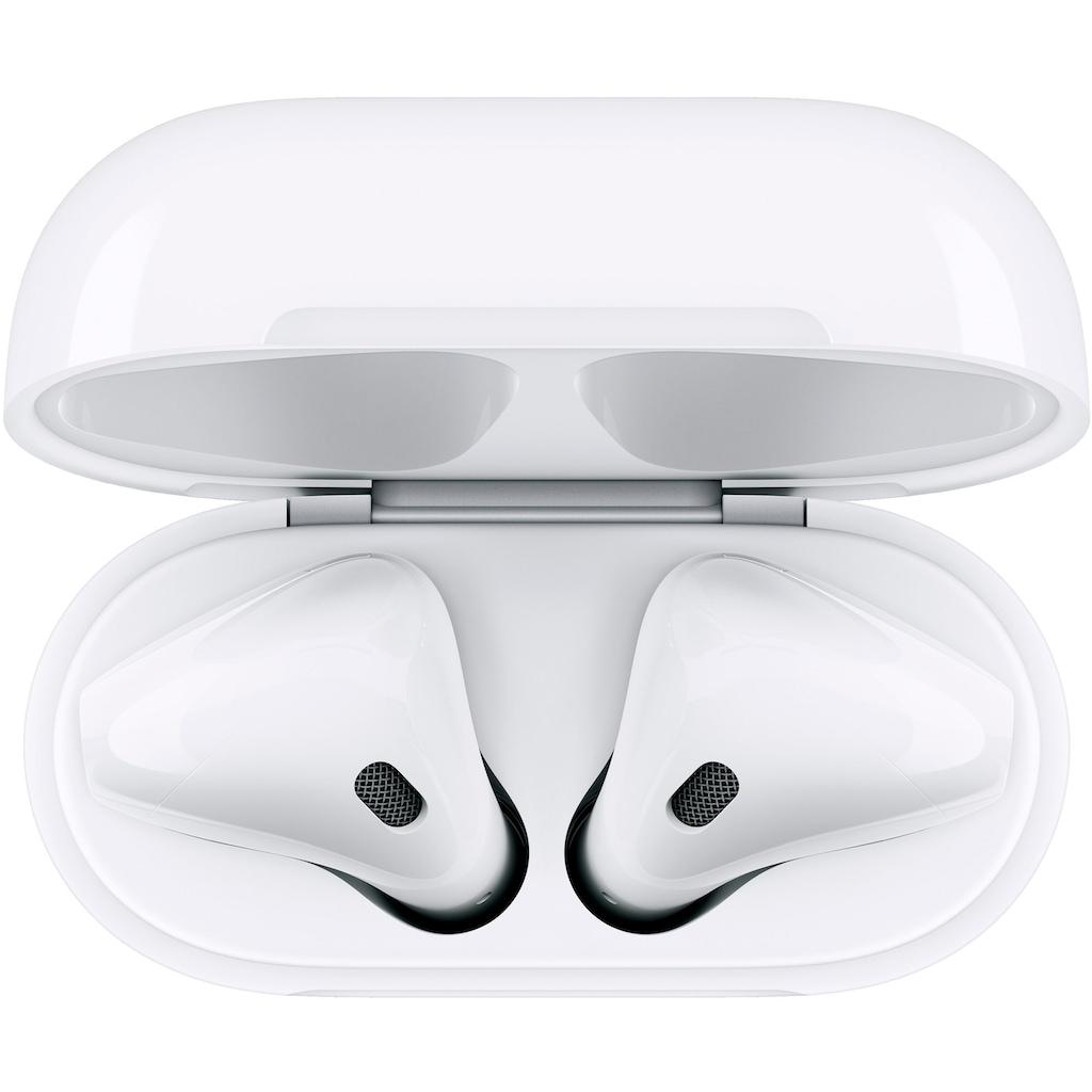 Apple In-Ear-Kopfhörer »AirPods with Wireless Charging Case (2019)«, Bluetooth, Sprachsteuerung-True Wireless, Kompatibel mit iPhone, iPhone XR, iPhone Mini, iPad Air / Mini / Pro, Watch SE, Series 6, Series 5, Series 4, Series 3, Mac Mini, iMac