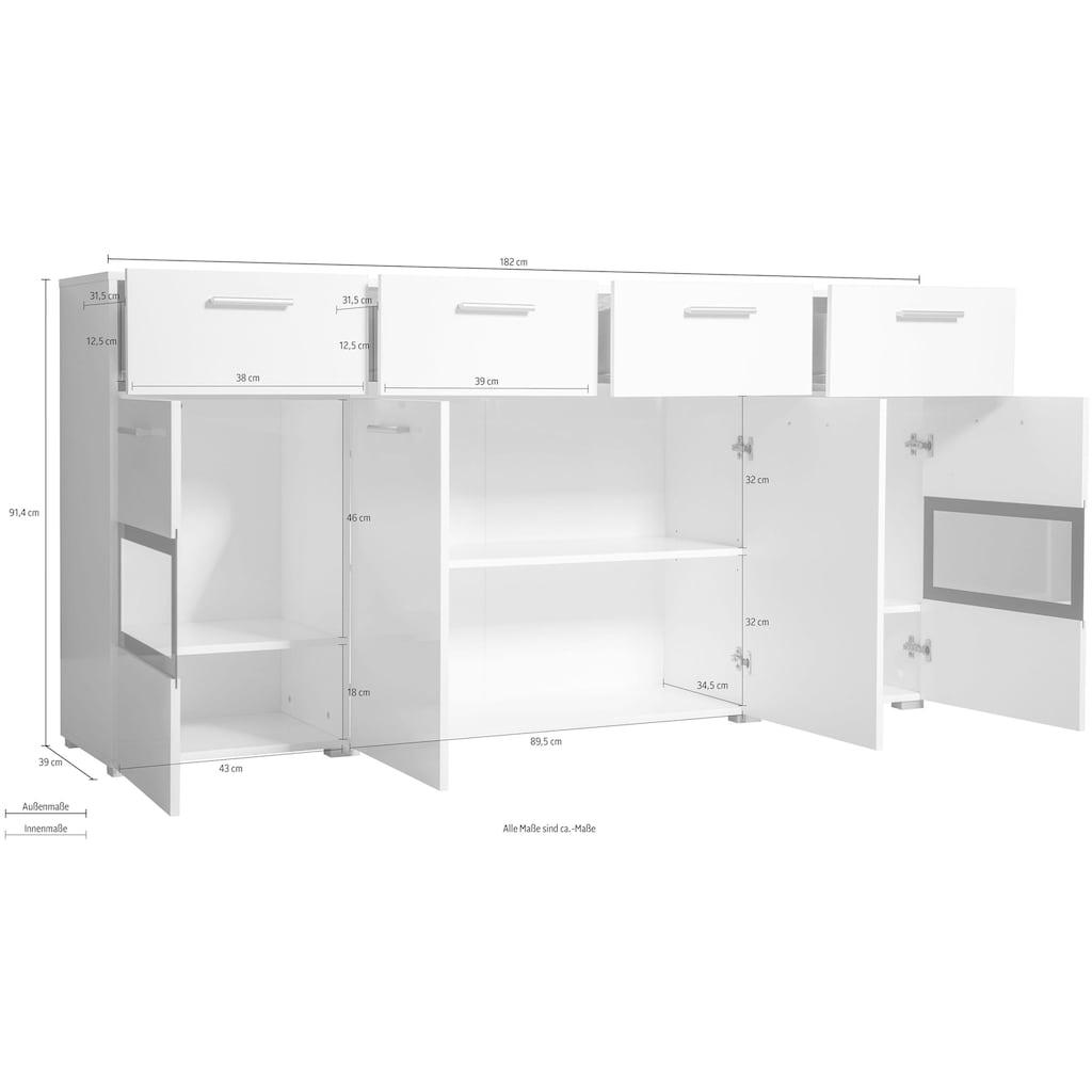 TRENDMANUFAKTUR Sideboard »Sarahmix«, Breite 182 cm