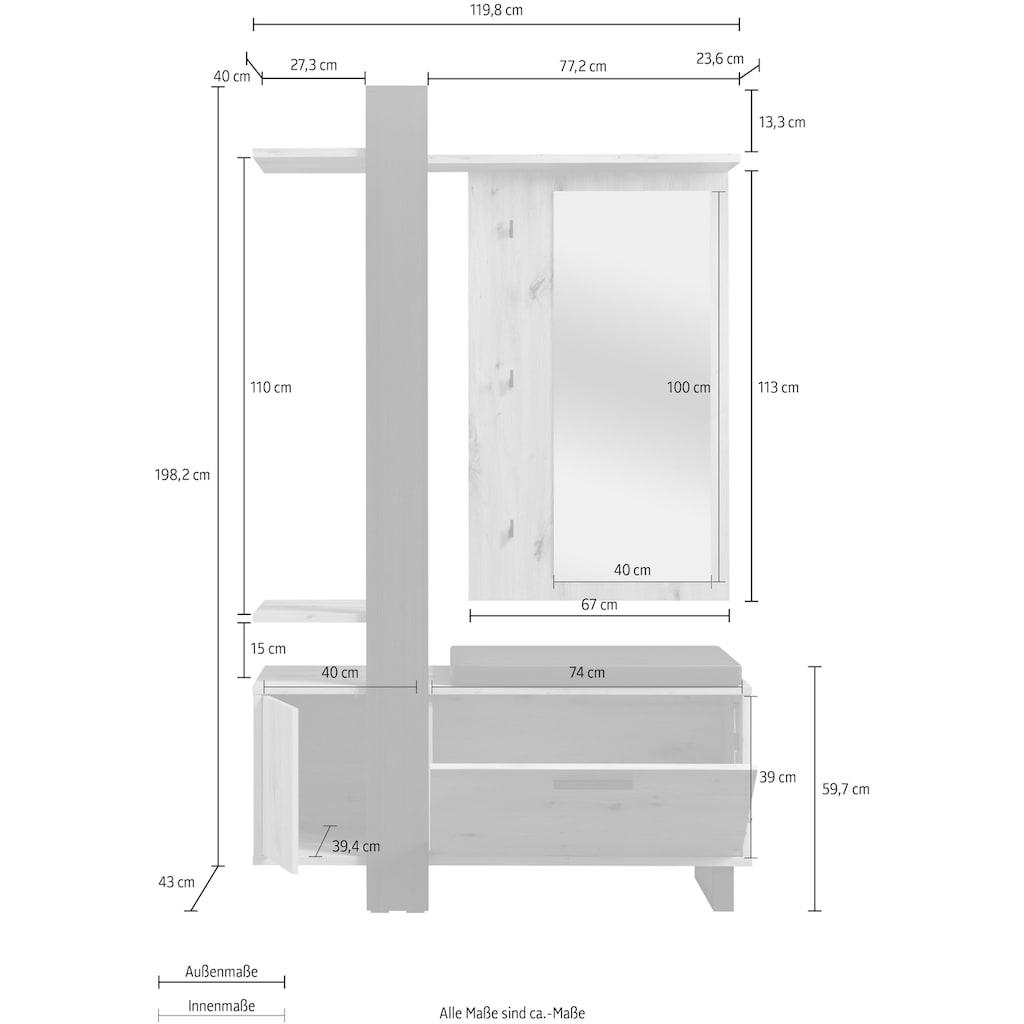 FORTE Garderoben-Set »Maracay«, (Set, 3 St.)