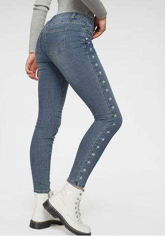 TOM TAILOR Polo Team Ankle-Jeans, in Slim Fit-Form mit Sterne-Print und Zierperlen kaufen