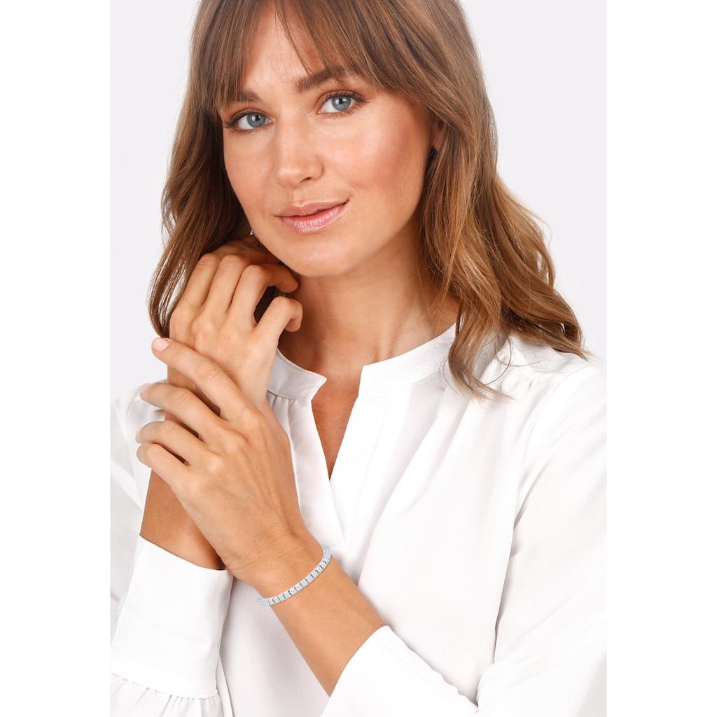 Elli Armband »Tennisarmband mit Zirkonia Kristalle 925 Silber«
