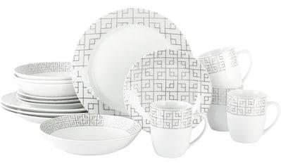 Retsch Arzberg Kombiservice »GEO PLATINUM«, (Set, 16 tlg.), matt und schimmerndes Art dèco Design kaufen