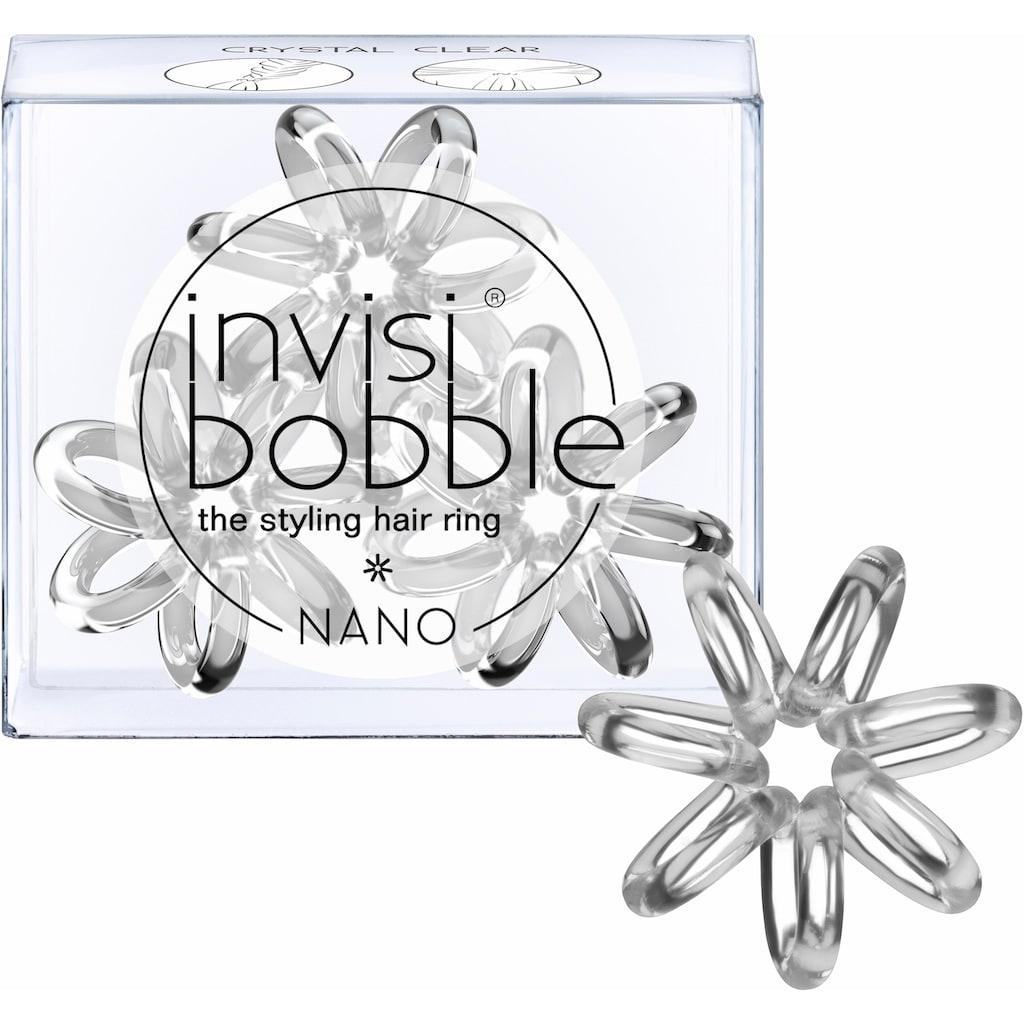 invisibobble Spiral-Haargummi »Nano«, True Black/Pretzel Brown/Crystal Clear