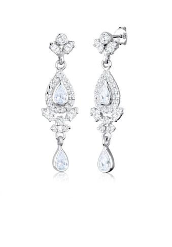 Elli Paar Ohrhänger »Ohrhänger Tropfen Zirkonia Elegant 925 Silber« kaufen