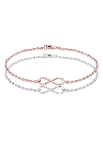Elli Armband Set »Infinity Unendlichkeit Liebe 925 Sterling Silber« kaufen