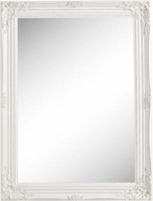 romantischer Badspiegel in Weiß