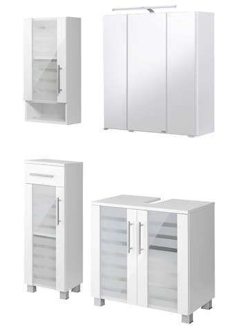 HELD MÖBEL Badmöbel-Set »Jaca«, (4 St.), Badmöbel-Set mit hochglanz Fronten kaufen