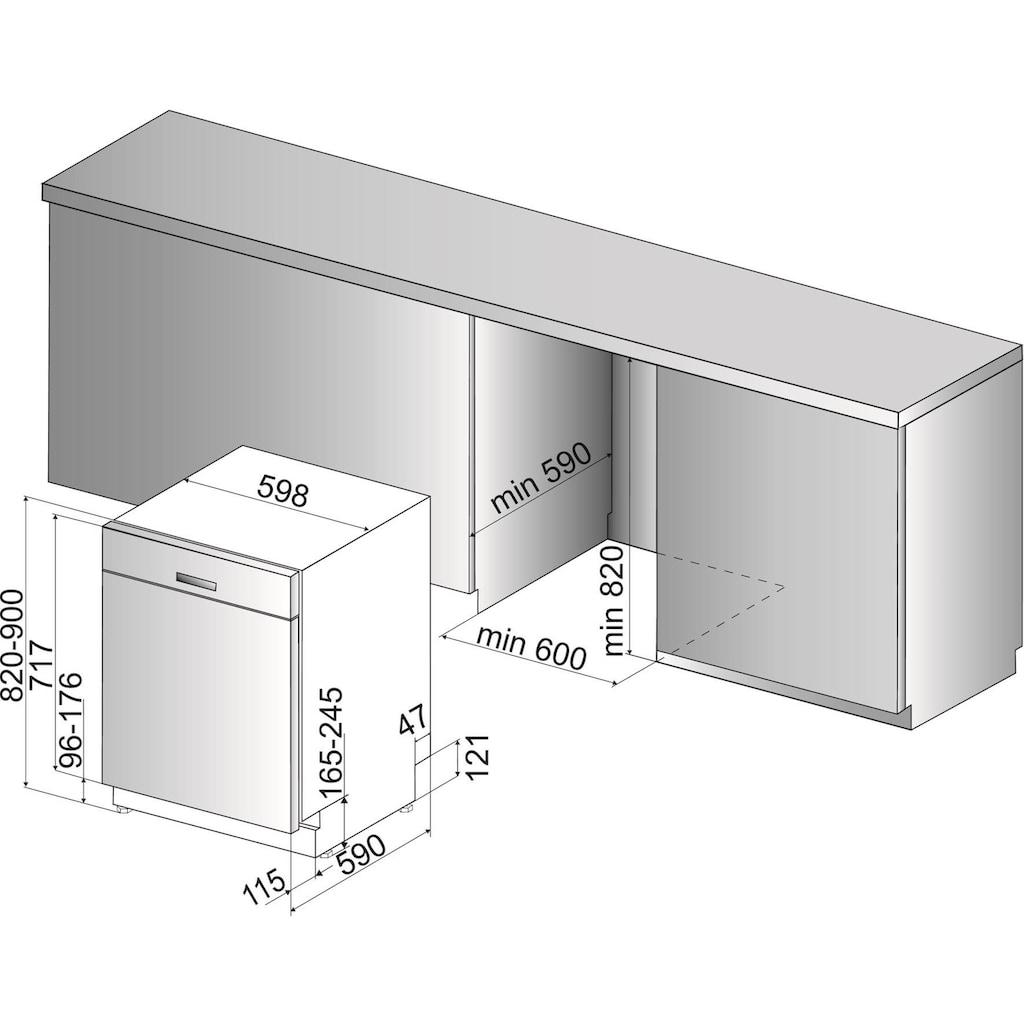 BAUKNECHT Unterbaugeschirrspüler »BUC 3C26 X«, BUC 3C26 X (2), 14 Maßgedecke