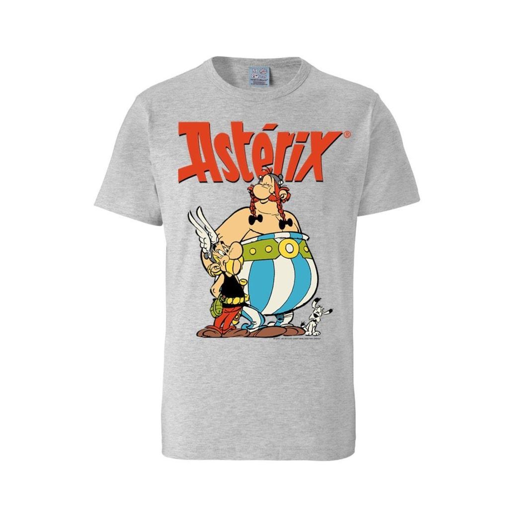 LOGOSHIRT T-Shirt mit coolem Retro-Print »Asterix & Obelix«