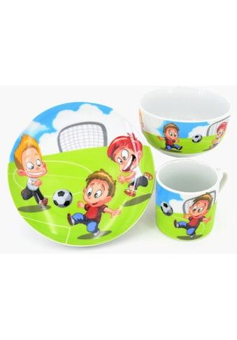 """Retsch Arzberg Kindergeschirr - Set """"Fußball"""" (3 - tlg.), Porzellan kaufen"""