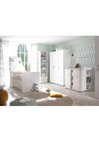 Babyzimmer-Komplettset »Bibo«, (Set, 3 tlg.), Bett + Wickelkommode + 3-trg. Schrank kaufen