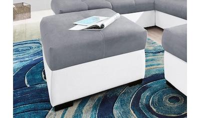 COTTA Polstergarnitur, (Set), Set: bestehend aus 3-Sitzer Sofa und Hocker, 3-Sitzer... kaufen