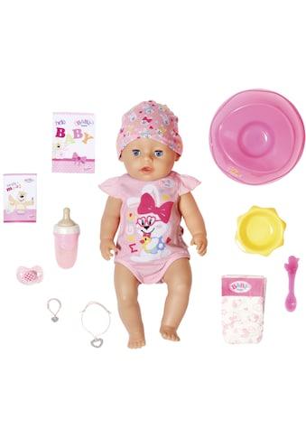 Baby Born Babypuppe »Magic Girl, 43 cm«, (Set, 13 tlg.), mit 10 lebensechten Funktionen kaufen