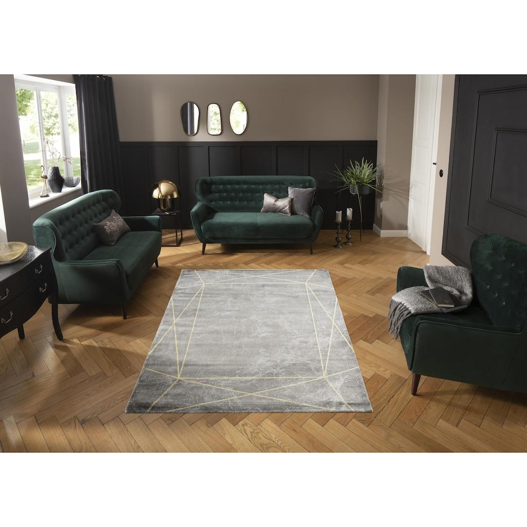 Leonique Teppich »Lucie«, rechteckig, 12 mm Höhe, moderne Marmor-Optik, Wohnzimmer