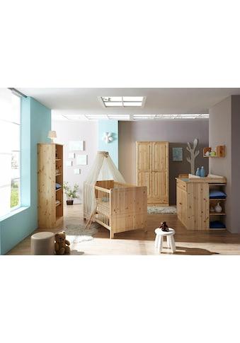 Ticaa Babyzimmer-Komplettset »Moritz«, (Set, 5 tlg.), Bett + Wickelkommode + Schrank + Unterstellregal + Standregal kaufen