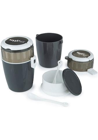 MAXXMEE Frischhaltedose, (Set, 4 tlg.), Ideal zum getrennten Mitnehmen und Aufbewahren von Salat & Dressing, Müsli & Joghurt kaufen